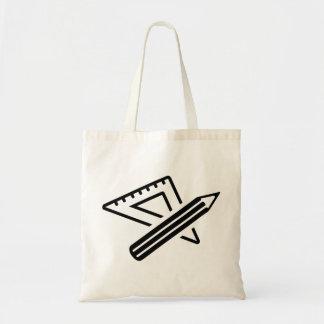 Set square ruler pen bag
