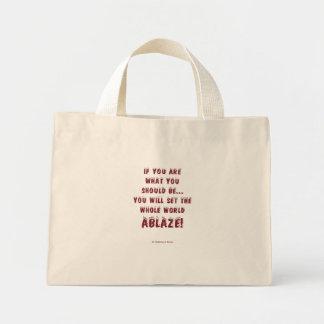 Set the World Ablaze! Mini Tote Bag