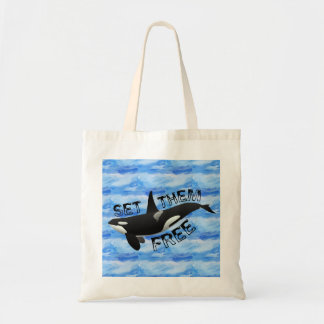 """Set them free"" orca Tote Bag"