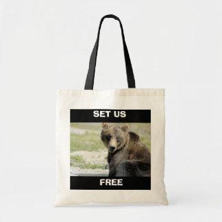 Set Us Free, Save the Bears Budget Tote Bag