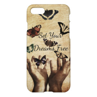 Set Your Dreams Free Inspirational Butterfly Custo iPhone 8/7 Case