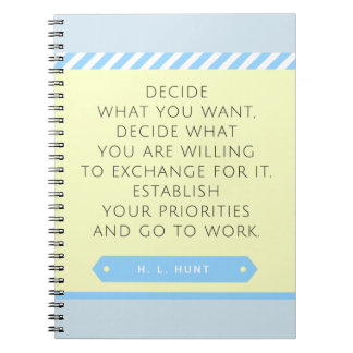 Set Your Priorities Notebook