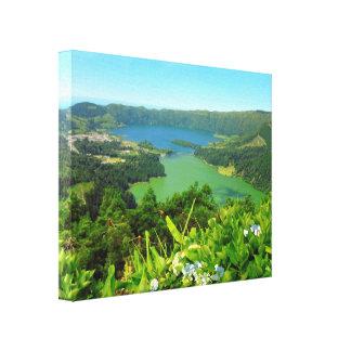 """Sete Cidades Azores Canvas Print 20"""" x 16"""", 1.5"""""""