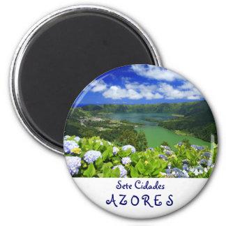Sete Cidades, Azores 6 Cm Round Magnet