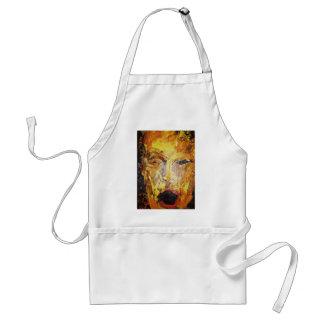 Seth, man's face, original acrylic painting standard apron
