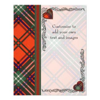 Seton clan Plaid Scottish tartan 11.5 Cm X 14 Cm Flyer
