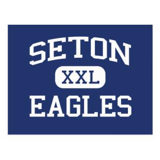 Seton Eagles Catholic Menasha Wisconsin Postcard