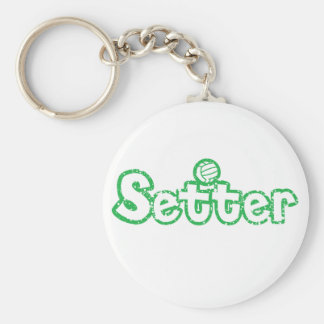 Setter Volleyball Basic Round Button Key Ring