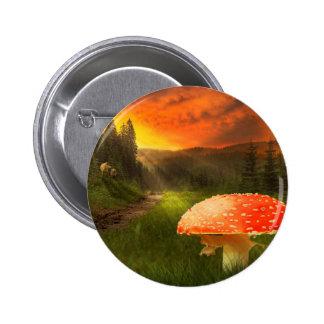 Setting Autumn Sun. 6 Cm Round Badge