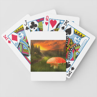 Setting Autumn Sun. Bicycle Playing Cards