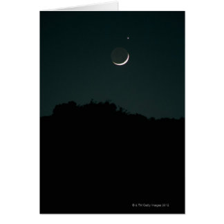 Setting Crescent Moon Greeting Card