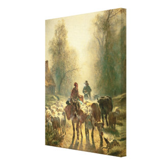 Setting off For Market Canvas Prints