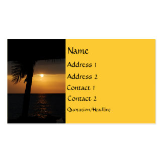 Setting Sun at Twilight Pack Of Standard Business Cards