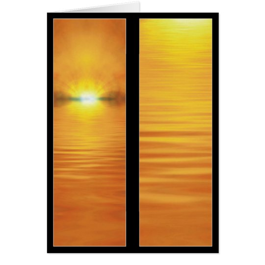 Setting Sun Bookmark Card