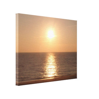 Setting Sun Stretched Canvas Prints