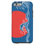 Setting sun on blue waves design iPhone 6 case