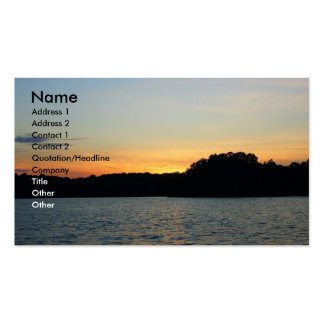 Setting Sun Pack Of Standard Business Cards