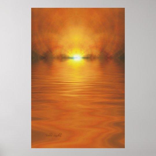 Setting Sun Poster & Print