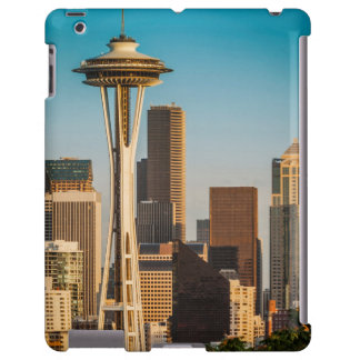 Setting Sunlight On The Space Needle And Seattle iPad Case