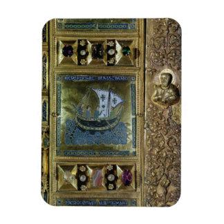 Settlement of the Body of St. Mark, enamel panel f Rectangular Photo Magnet