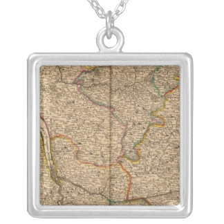Settlements and forests in France Square Pendant Necklace