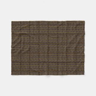 """""""Settler's Cloth"""" Brown_gray_SM-Fleece Fleece Blanket"""