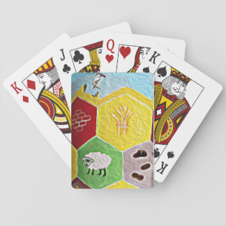 Settlers of Catan styled playing cards