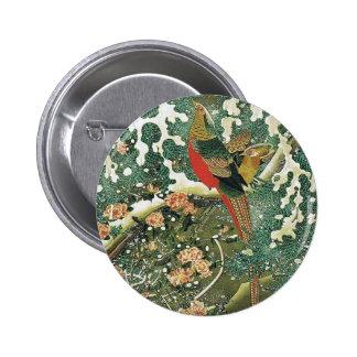 Settyu kinkeizu by Ito Jakuchu 6 Cm Round Badge