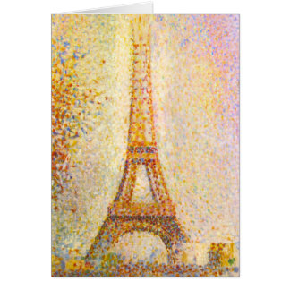 Seurat Eiffel Tower Greeting Card