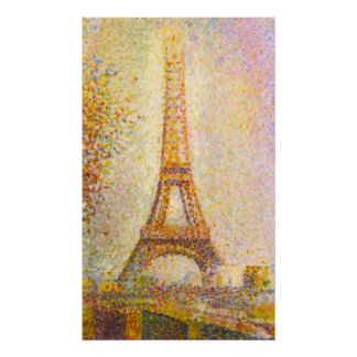 Seurat Eiffel Tower Poster