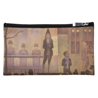 Seurat Painting - The Circus Parade Makeup Bag