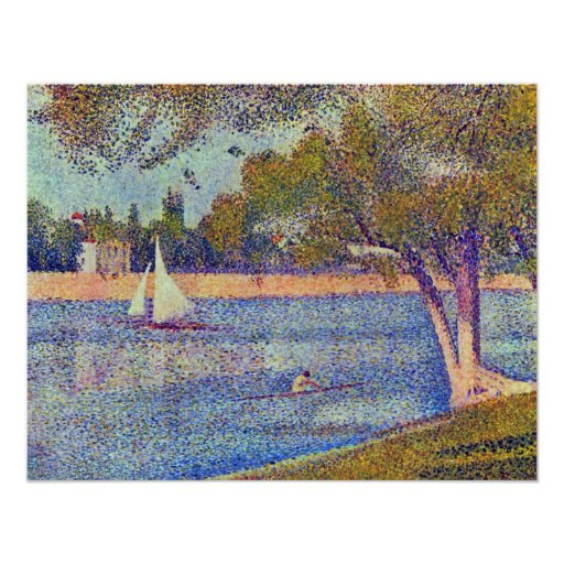 Seurat - The Seine at the Grand Jatte, Spring Poster