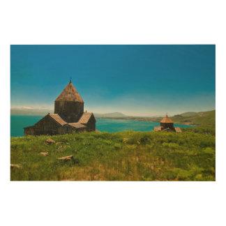 Sevan Monastery Landscape Wood Wall Art