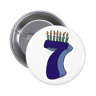 Seven 7th Birthday Gifts 6 Cm Round Badge