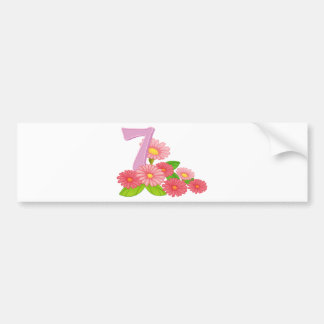 Seven blooming flowers bumper sticker