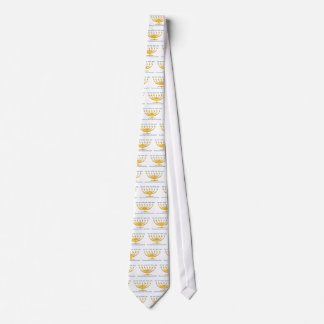 Seven branch menorah of Israel and Shema Israel Tie