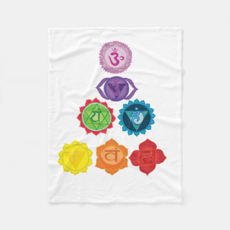 Seven Chakra Fleece Blanket