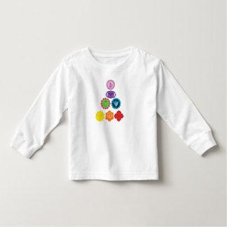 Seven Chakra Yoga Baby Toddler Long Sleeve T-Shirt