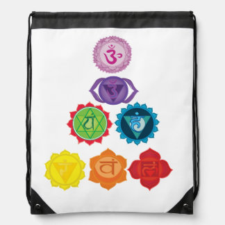 Seven Chakra Yoga Drawstring Backpack