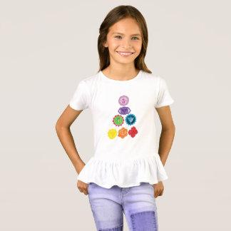 Seven Chakra Yoga  Girls' Ruffle T-Shirt