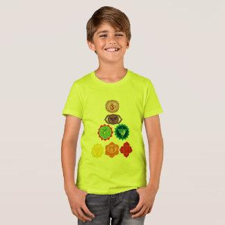 Seven Chakra Yoga kids  Canvas Crew T-Shirt