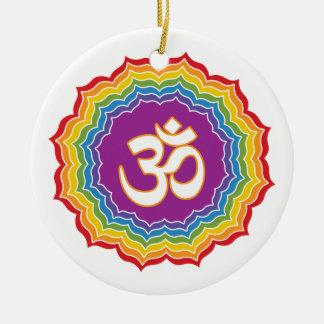 Seven Chakras Colors Christmas Ornament