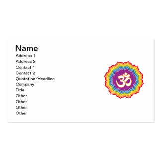Seven Chakras Colors Pack Of Standard Business Cards