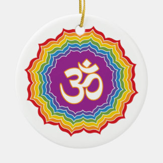Seven Chakras Colors Round Ceramic Decoration