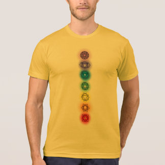 Seven Chakras Heather Gold American Apparel Tees