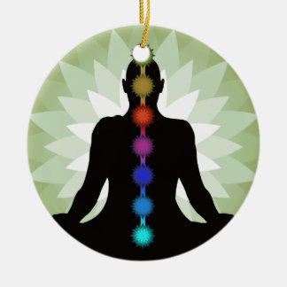 Seven Chakras Yoga Pose Ornament