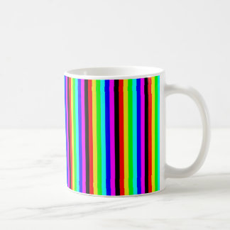 seven color strips basic white mug
