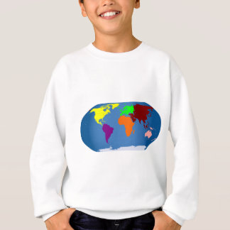 Seven Continents Colored Sweatshirt