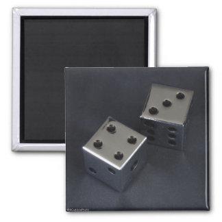 Seven Craps Square Magnet