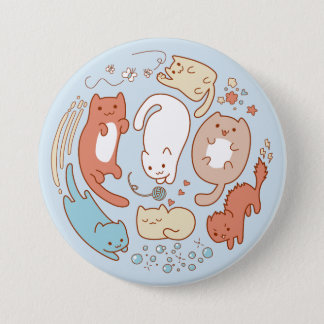 Seven cute kitties - Take away! 7.5 Cm Round Badge